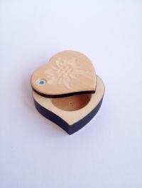Holzkästchen Herz klein
