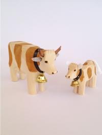 Kuh mit Kalb braun gefleckt