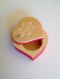 Holzkästchen Herz klein rot