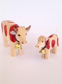 Kuh mit Kalb rot gefleckt