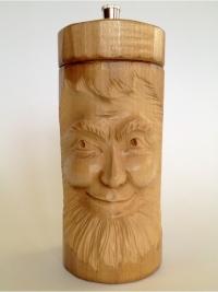 Pfeffermühle Gesicht